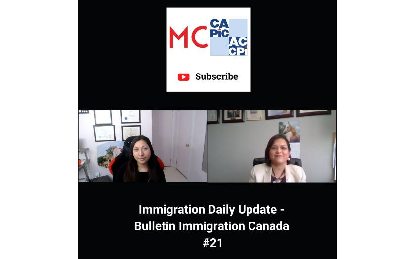 Immigration Daily Update - Bulletin Immigration Canada #21