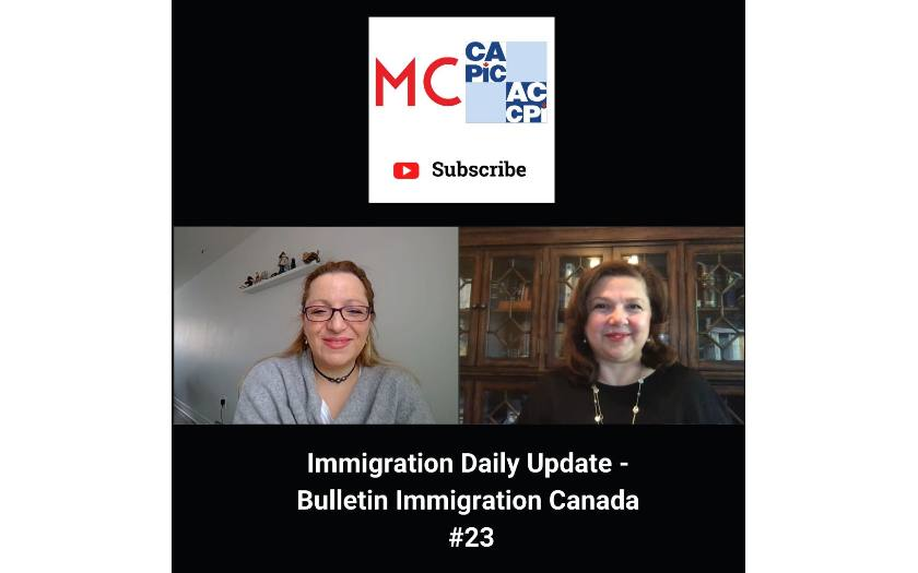 Immigration Daily Update - Bulletin Immigration Canada #23