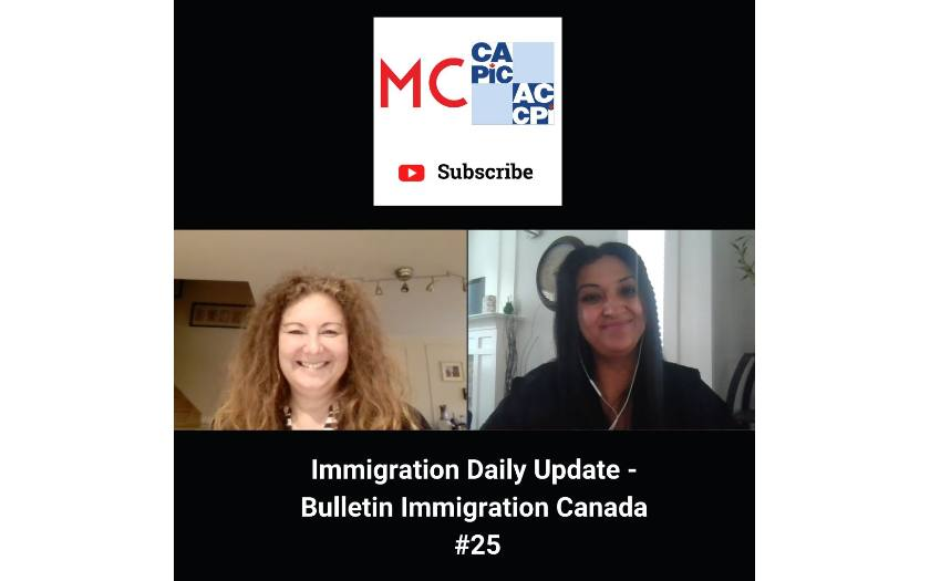 Immigration Daily Update - Bulletin Immigration Canada #25