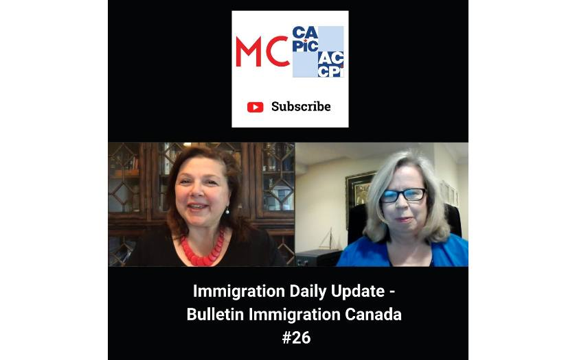 Immigration Daily Update - Bulletin Immigration Canada #26