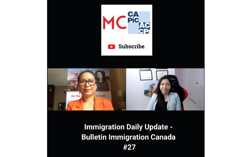 Immigration Daily Update - Bulletin Immigration Canada #27