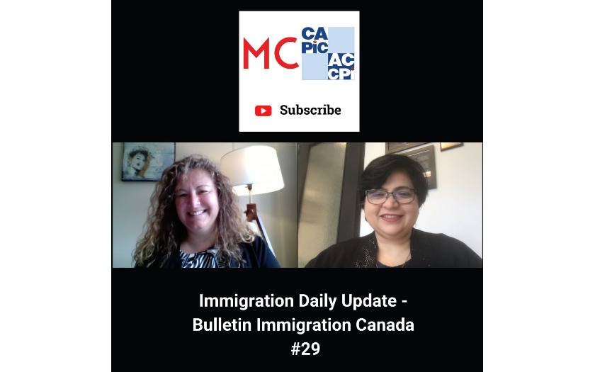 Immigration Daily Update - Bulletin Immigration Canada #29