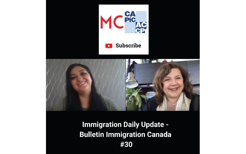 Immigration Daily Update - Bulletin Immigration Canada #30