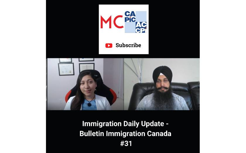 Immigration Daily Update - Bulletin Immigration Canada #31
