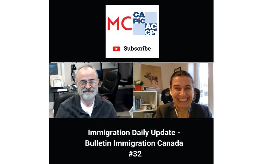 Immigration Daily Update - Bulletin Immigration Canada #32