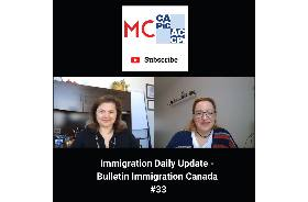 Immigration Daily Update - Bulletin Immigration Canada #33