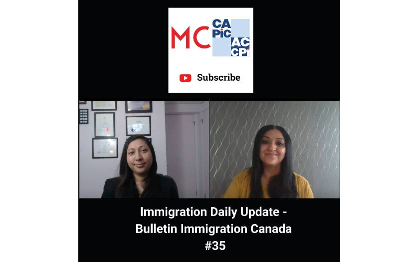 Immigration Daily Update - Bulletin Immigration Canada #35