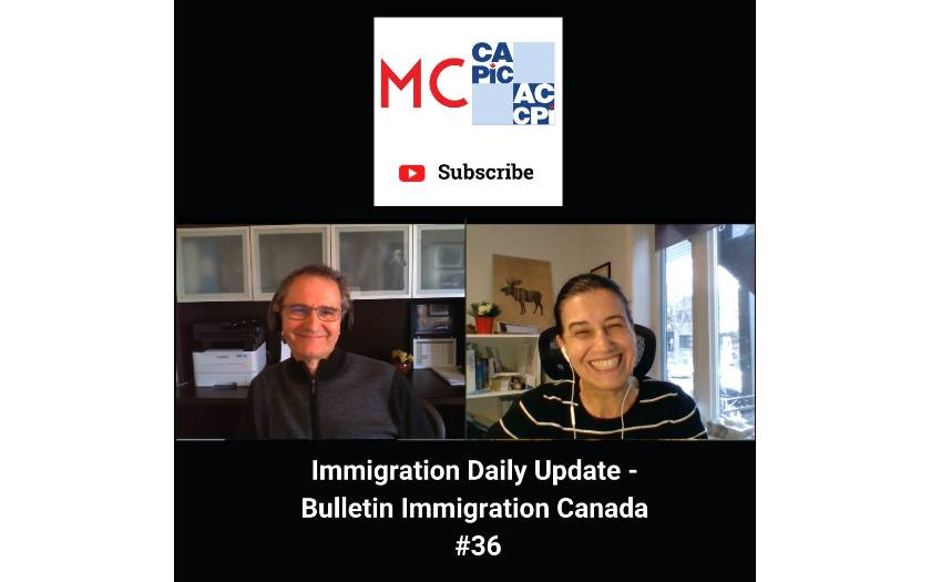 Immigration Daily Update - Bulletin Immigration Canada #36