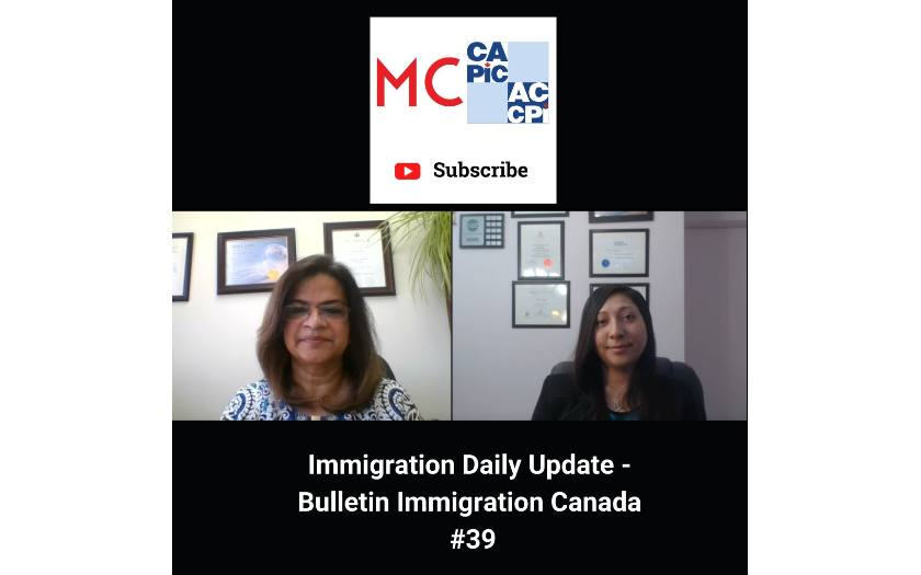 Immigration Daily Update - Bulletin Immigration Canada #39