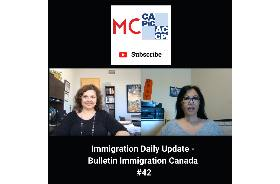 Immigration Daily Update - Bulletin Immigration Canada #42