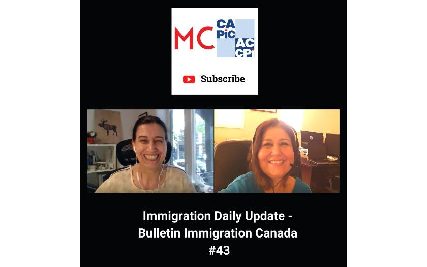 Immigration Daily Update - Bulletin Immigration Canada #43