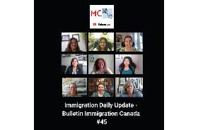 Immigration Daily Update - Bulletin Immigration Canada #45