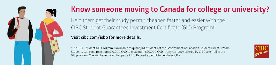 CIBC Student Guaranteed Investment Certificate Program